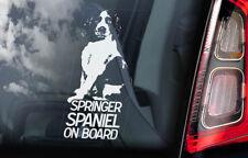 Springer Spaniel on Board - Car Window Sticker - English Dog Sign Decal - V01