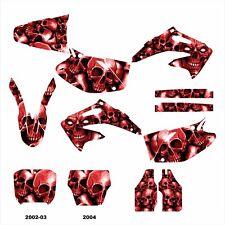 2002 2003 2004 CRF450R CRF 450 450R graphics decal kit #5555 Red Boneyard