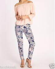 Mujer Verano Estampado Floral Crepé Pantalones Verano