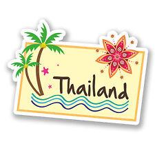 2 x 10cm Thailand Thai Sticker Decal Car Bike Girls Laptop Travel Luggage #5644