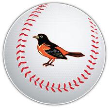 Baltimore Orioles Bird MLB Logo Ball Car Bumper Sticker Decal  - 3'' or 5''