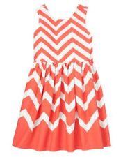 NWT Gymboree Chevrons and Dots SZ 5 7 Girls Dress Coral Chevrons Dress