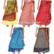 Indian Wholesale Bohemian Below Knee Skirt Beach Wrap Skirts Hippie Women Dress