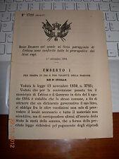 REGIO DECRETO 1884 LICEO PAREGGIATO DI URBINO CONFERITE PREROGATIVE LICEI REGI