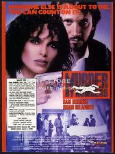 MURDER BY NUMBERS__Original 1990 Trade Print AD movie promo__SHARI BELAFONTE