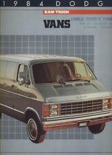 1984 Dodge Ram Cargo Van CDN Sales Brochure Book