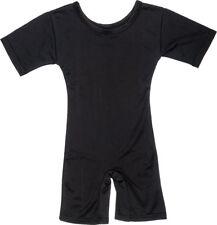 Wrestling Swimming Gymnast Sports PE Lycra Legsuit Childrens Wrestle Suit Black