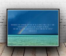 Christian Inspirational Poster - Genesis 9:16 - Shine Heaven Earth - ALL SIZES