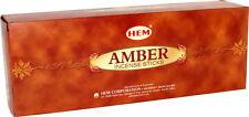 Hem Amber Incense stick : Choose: 20, 40, 60, 80, 100 or 120 Stick- Fresh Stock