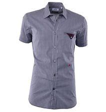 Moschino Quadri Camicia Manica Corta Bianco Nero Short Sleeves Shirt 04373