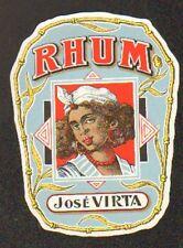 ETIQUETTE RHUM JOSE VIRTA