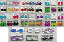 wholesale lot 6 pairs button  plasitc colorful clip fashion earring