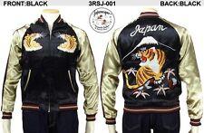 Sukajan Tiger Vintage Feeling Japan Satin Embroidery Souvenir Jacket Japanesque