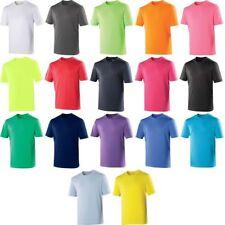 enfants garçon fille AWDis Manches Courtes Uni Polyester SPORT T shirt