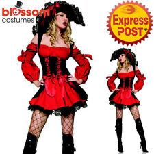 CA598 Leg Avenue Vixen Pirate Wench Buccaneer Caribbean Dress Up Womens Costume