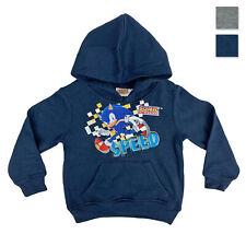 SONIC THE HEDGEHOG maglia maniche lunghe Sonic e Tails taglie 3 a 8 anni-BIANCO