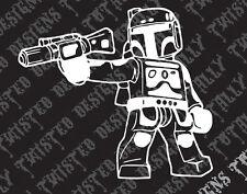 Star Wars Boba Fett Lego car truck vinyl decal sticker empire darth vader jedi