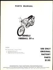 BENELLI FIREBALL 50cc PARTS MANUAL / COMOPOLITAN MOTORS