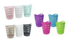 Cesta de ropa de plástico flexible de 50 litros de alto gran cesta ropa de almacenamiento de información
