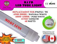 F96T12 T8 R17D 8 Feet 48 Watt MILKY Lens LED Fluorescent Replacement Tube Light