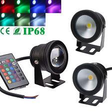 Black IP68 10W LED Underwater RGB Spot Flood Light Pond Pool Path Lighting Lamp