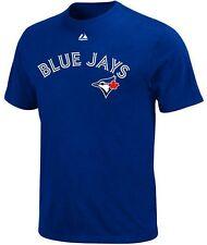 Toronto Blue Jays MLB Majestic Mens Wordmark T Shirt Royal Blue Big & Tall Sizes