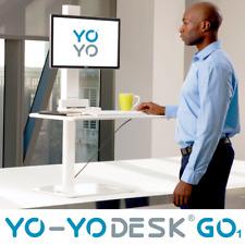 Yo-Yo Desk® GO1   Height Adjustable Standing Desk with Single Arm Monitor  