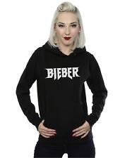 Justin Bieber Donna Simple Logo Felpa con cappuccio