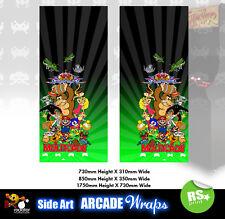 Multijuegos Arcade Laterales Arte Panel Pegatinas Verde gráficos/Laminado Todos Los Tamaños