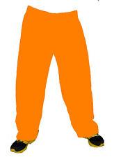 Indian Pant 100% Cotton Men Pajama Baggie Trouser Harem Orange Solid Plain  L 42