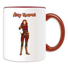 Cadeau personnalisé blood elf rogue mug argent boîte cup world warcraft wow jeu nom