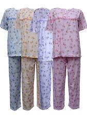 Women's Pyjama Sets Floral Print Nightwear Ladies Short Sleeve PJ's Nightie 8-18