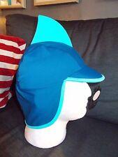 "M&S UPF 40+ ""aleta de tiburón"" Sun Swim Sombrero Con Cubierta De Cuello 1-3yrs 3-6yrs Azul Mezcla BNWT"
