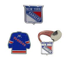 "New York Rangers Lapel Pins About 1"" High NHL Hockey Licensed Choose Design"