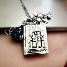 Mickey Mouse Disney Ears Magic Castle Secret Message Locket pendant necklace