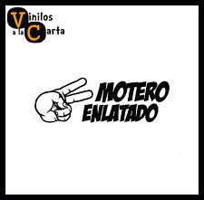 Mano motero enlatado Saludo Vinilo Sticker Pegatina Adhesivo Vinilo Coche moto