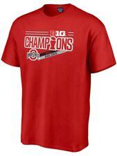 Ohio State Buckeyes 2017 Big 10 Champions Locker Room NCAA Football Red T-Shirt