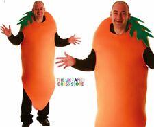 Adult Crazy CARROT Fruit Fancy Dress Costume Unisex Food Stag Big Jasper Party