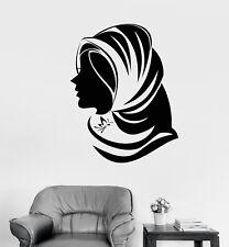 Vinyl Wall Decal Islam Muslim Clothes Shop Girl Hijab Stickers (2577ig)