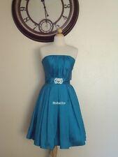 NWT Short Prom Dress Bridesmaid Red Burgundy Teal Purple Silver S L XL