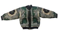 Mens Metalic Silk Jacket Color Green Leopard Design(Chamarra de seda)