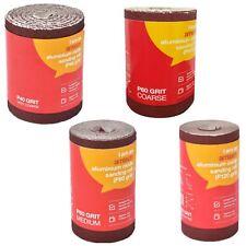 Amtech 5m Red Aluminium Oxide Sanding Roll 40 60 80 Or 120 Grit Sandpaper