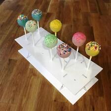 "Rectangle White Acrylic Cake Pop Stands 31x13cm 8.5""x5""/ 45x16cm 17.5""x 6"""