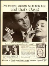 1960 vintage ad for Oasis Cigarettes -186