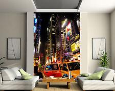 Papier peint géant 2 lés, tapisserie murale déco New York Taxi réf 114
