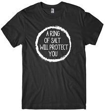 Un anneau de sel vous protégera homme drôle unisexe halloween t-shirt