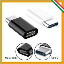ADATTATORE DA TYPE C TIPO C 3.1 MASCHIO A MICRO USB FEMMINA OTG CONVERTITORE