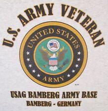 USAG BAMBERG ARMY BASE* BAMBERG-GERMANY U.S.ARMY VETERAN W/ARMY EMBLEM*SHIRT