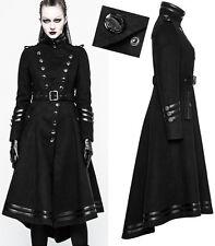 Manteau officier gothique lolita militaire fashion cintré traîne bandes Punkrave