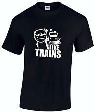 ASDF I LIKE TRAINS YouTube Cult Cartoon Gamer Children's t-shirt *ALL AGES*
